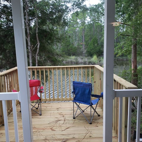 New Waterfront Cabin Mfg Home close 2 beach n fun!