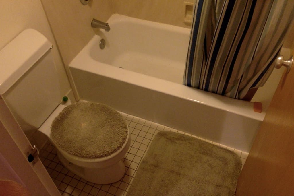 Simple clean bathroom