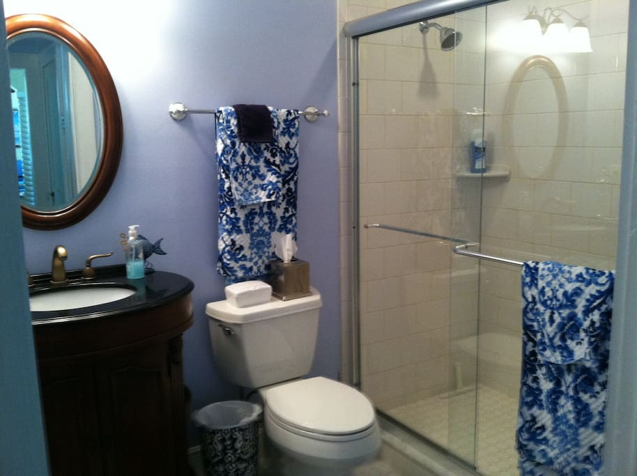 Nice bathroom with large walk-in shower