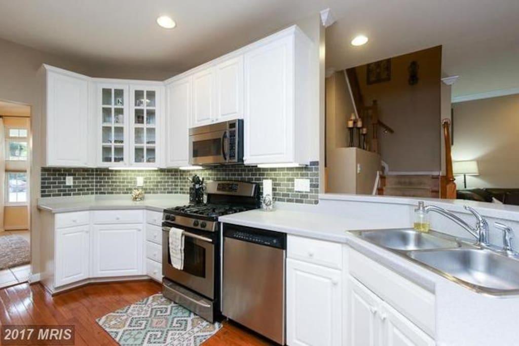 Shared kitchen on main level