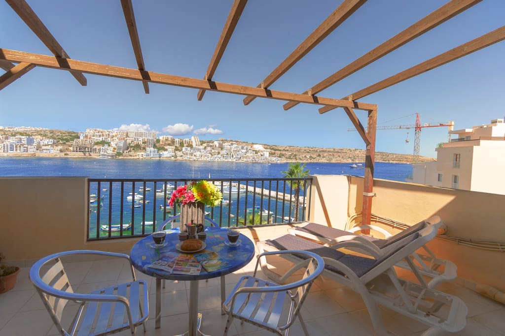 Large seafront terrace with spectacular views