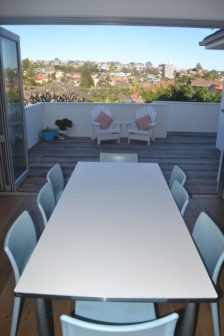 Enjoy indoor or outdoor dining