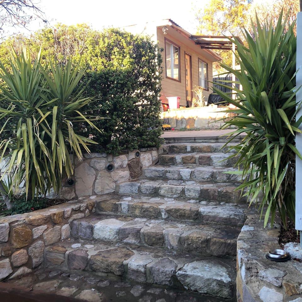 Cabin access via yard
