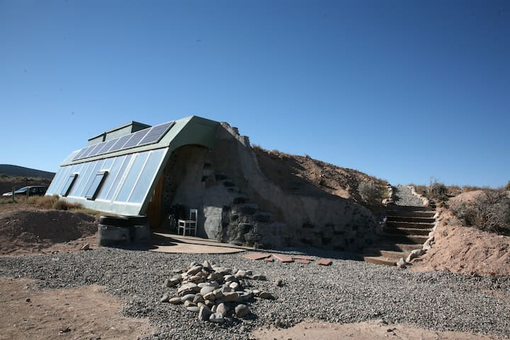 Welcome to the Earthship!  Just look at that blue sky.
