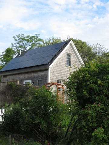 Green power - the cottage is powered completely by the sun.