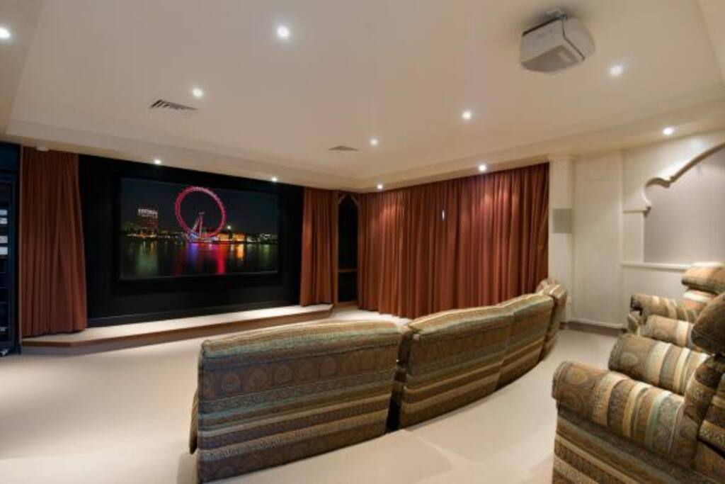 large theater room with big chairs
