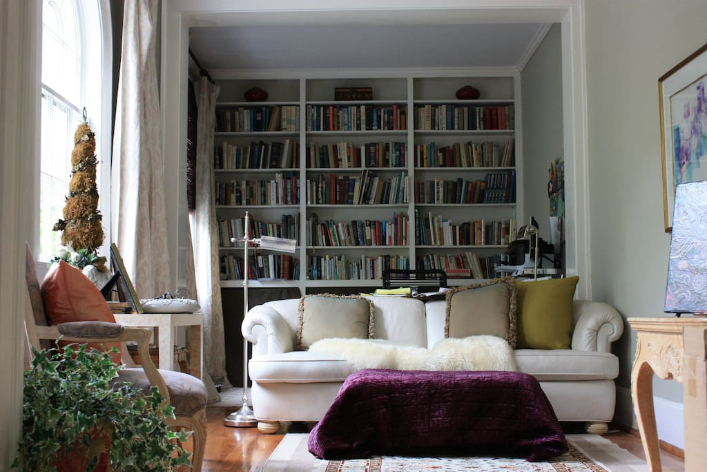 This is the study for reading, relaxing.