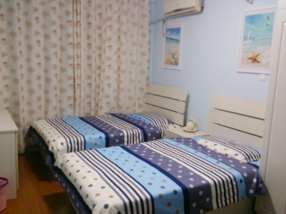 阳光海洋双床房
