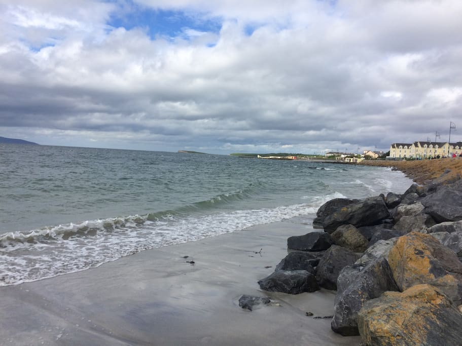 Beautiful Salthill Promenade is just a few steps away from our home.