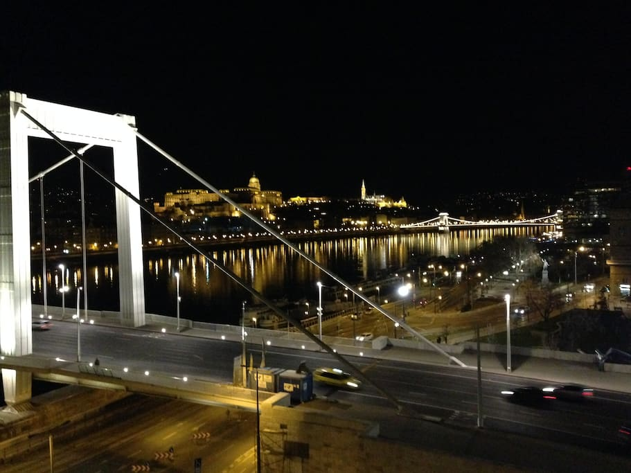Panorama from apartment of Budapest