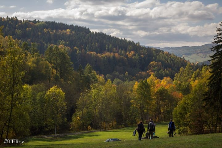 Relax v Jeseníkách Chata - maringotka u Hanušovic