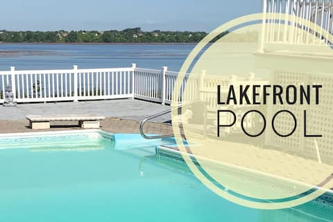 Lakefront Pool private suite