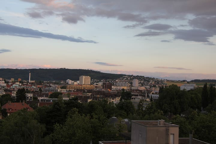 Peaceful room with a view - Biel/Bienne - Dom