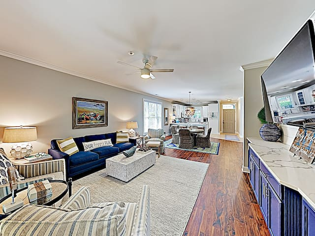 New Listing! Beach Chic Townhouse w/ Pool Access