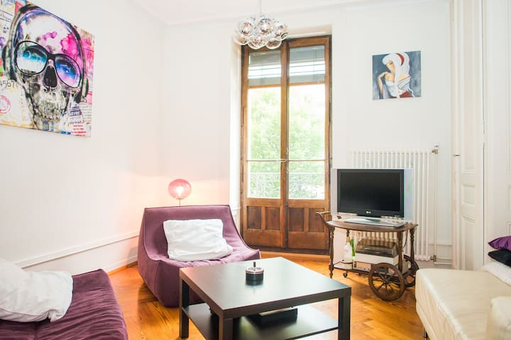 Room in a great flat in center - Genebra - Apartamento