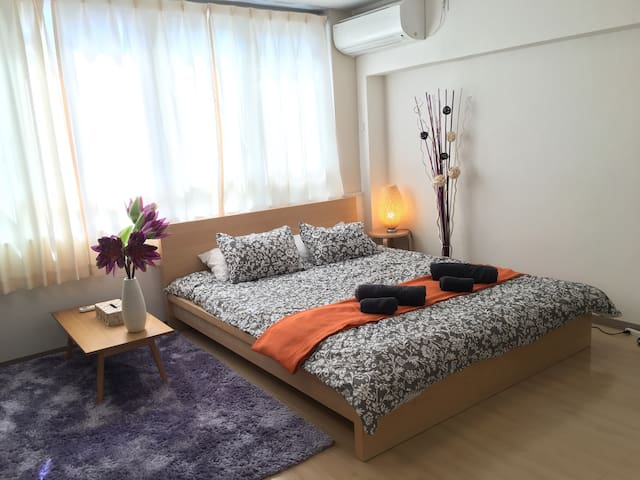 CENTRAL CITY QUEENBED CableT.V WiFi - Tokyo, Japan - Apartment