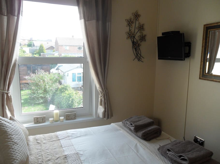 A smaller but very cosy double with wonderful views of the Downs