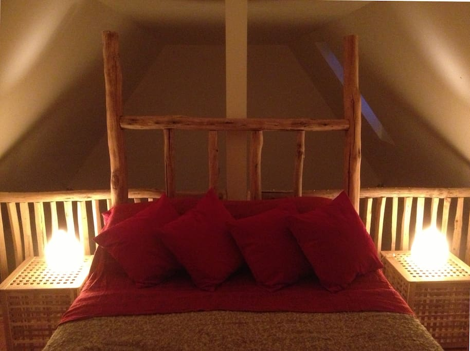 Handmade king sized double bed