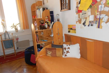 We offer you  a private room (suitable for 1 or 2 perople) in a cosy and friendly, well equipped flat in the centre of the city. We speak english, french, swedish and spanish, and we're happy to help you to get to know to the city.