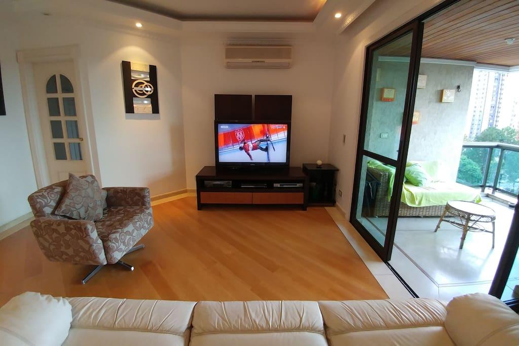 TV Room and balcony
