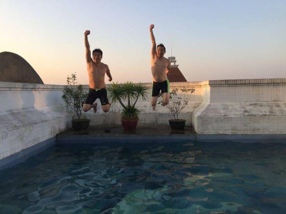 夏天可畅游…顶层的私家泳池的实景,夏天开始开放使用