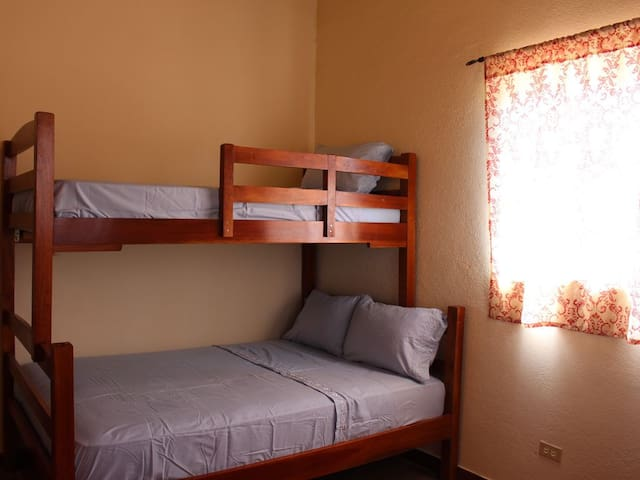 Second bedroom sleeps 4; full/twin bunk bed and additional twin
