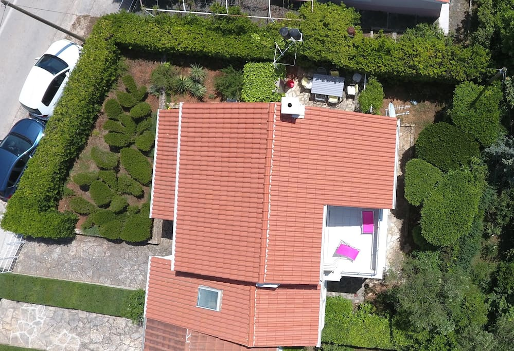 Drone photo of the house