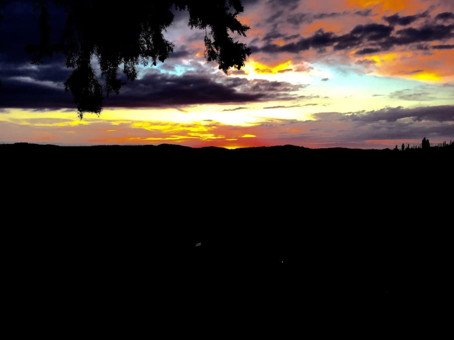 sunset from guest room