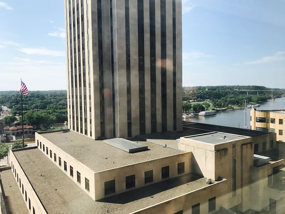 View from second window - Ramsey County Courthouse