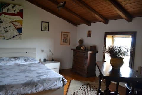 Room in medieval village