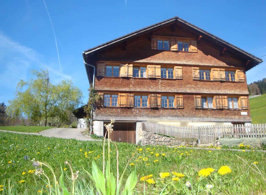 Unser Haus ist ein typisches Bregenzerwälder Haus