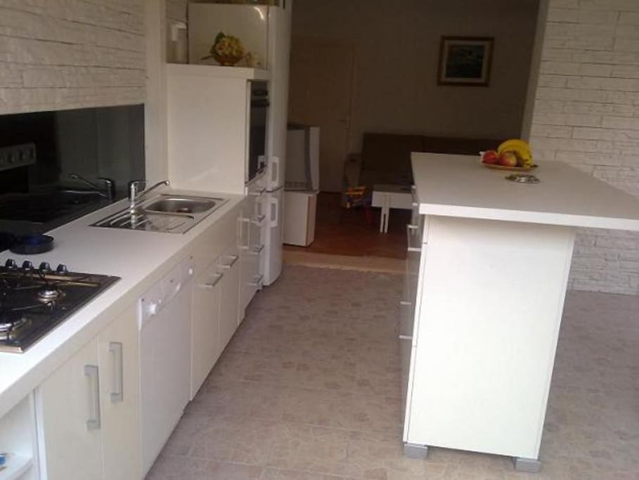 kitchen with all aparates includes