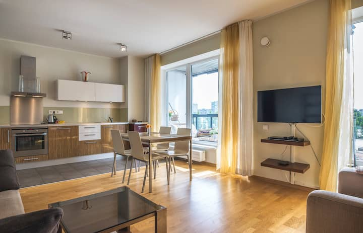 Modern   cozy place in  new center  of Riga
