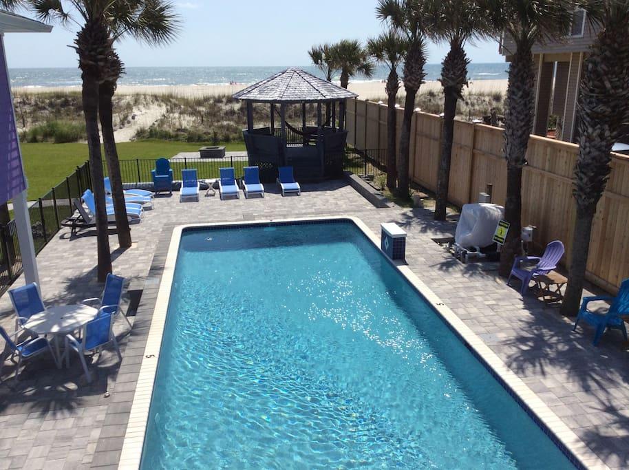 Love Shack Oceanfront Pool House Villas For Rent In St