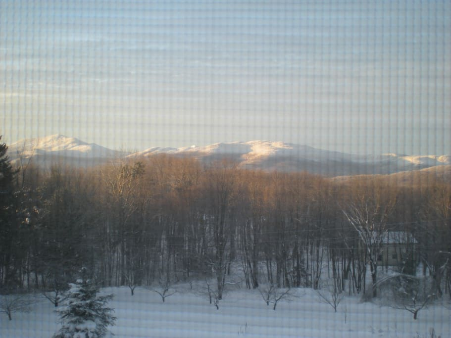 Winter Sunrise from your room.