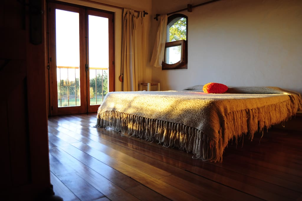 beautiful suite bedroom with large private bath