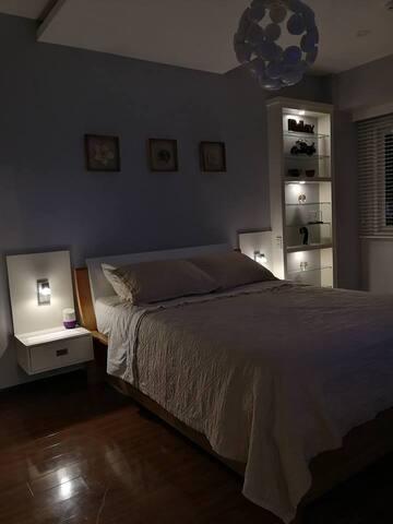 Mood lighting and individual reading lights.