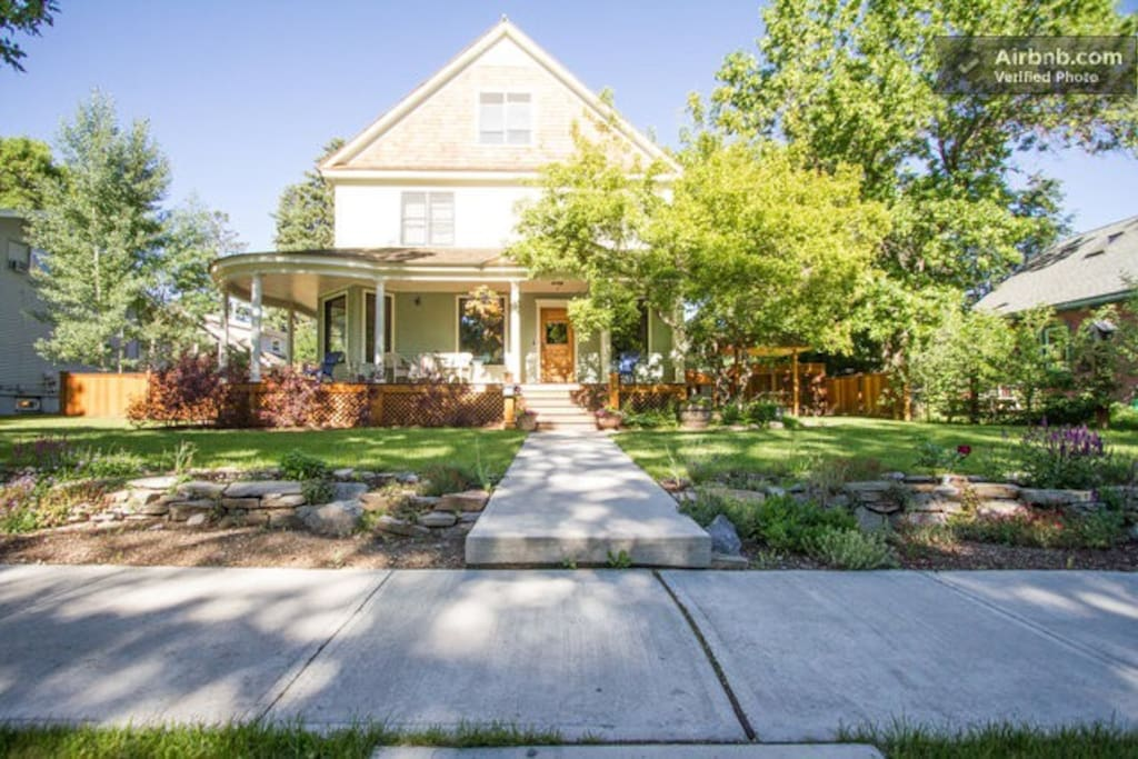 Large, historic Southside Bozeman home. Guest rooms on East side of second story.