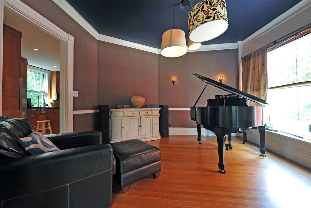 Bring out your inner Mozart from the Steinway Grand Piano in the Music Room