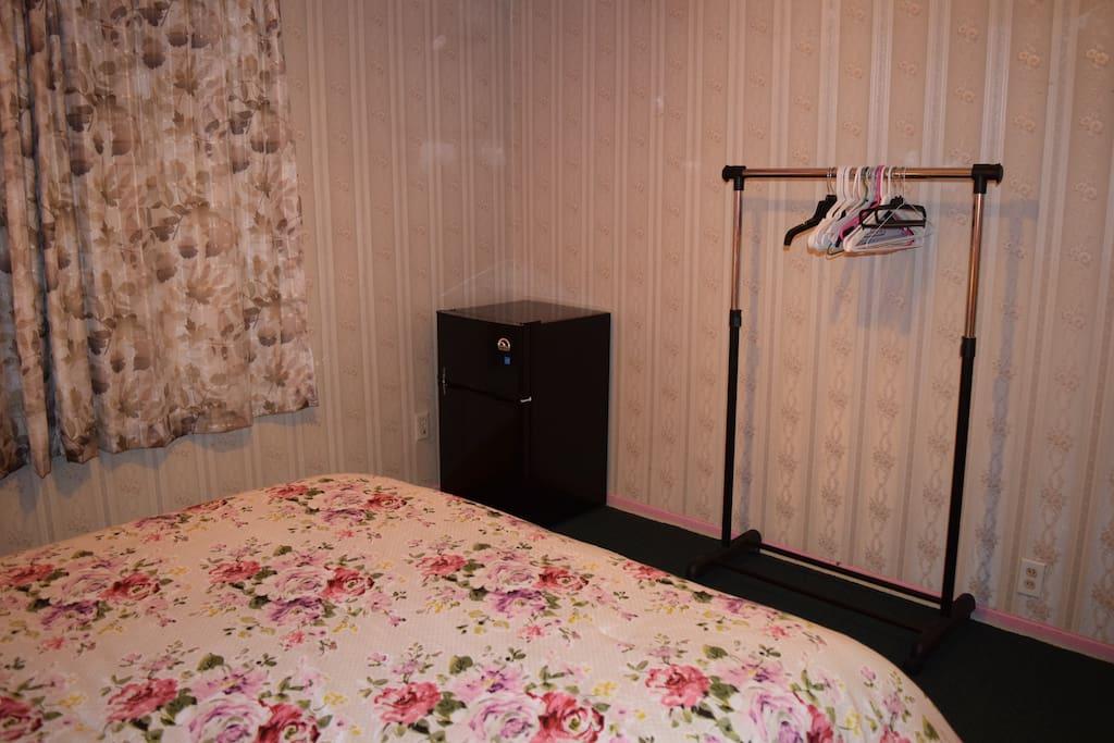 2 doors refrigerator inside your room