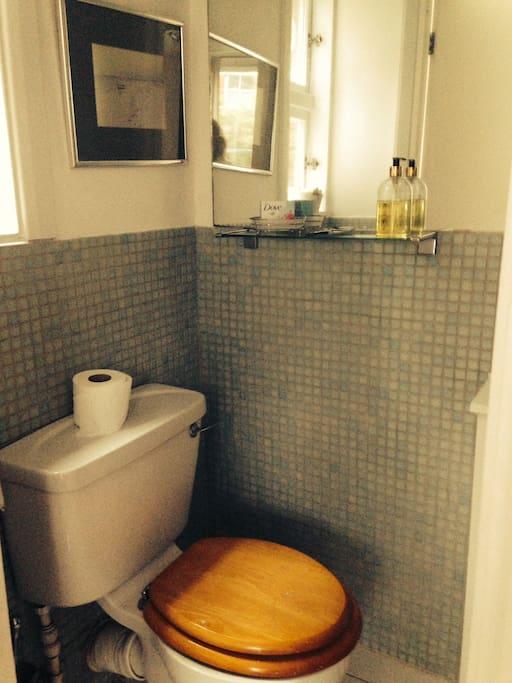 Own en suite bathroom with shower