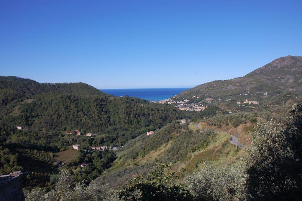 Blick aufs Meer und die Bucht von Levanto