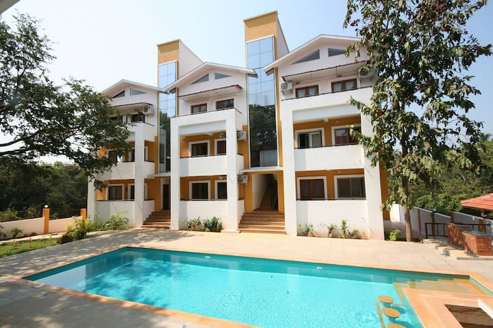 CHIC 2 BEDROOM FLAT IN NORTH GOA - A1 - Anjuna - Daire