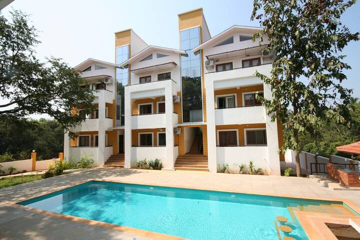 CHIC 2 BEDROOM FLAT IN NORTH GOA - A1 - Anjuna