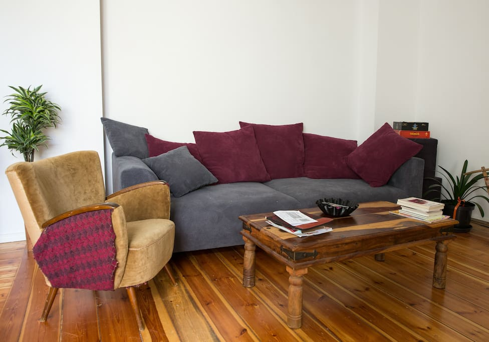 Living room with  a comfortable couch