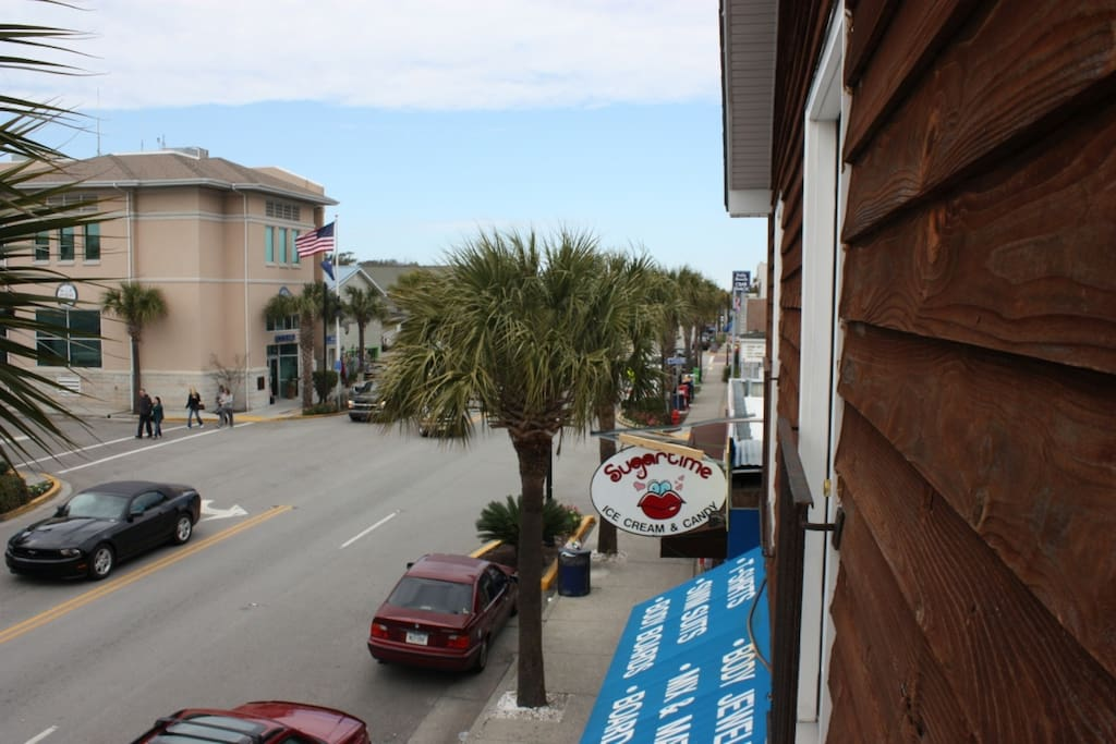 Fun Folly Beach downtown is just out the door