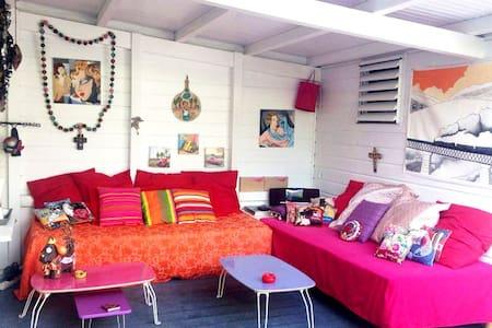 Chambre independante avec balcon côte Caraïbes - Schoelcher - Villa