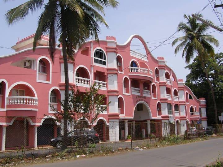 (F1)Fully Furnished Apartment w/ Pool Benaulim Goa