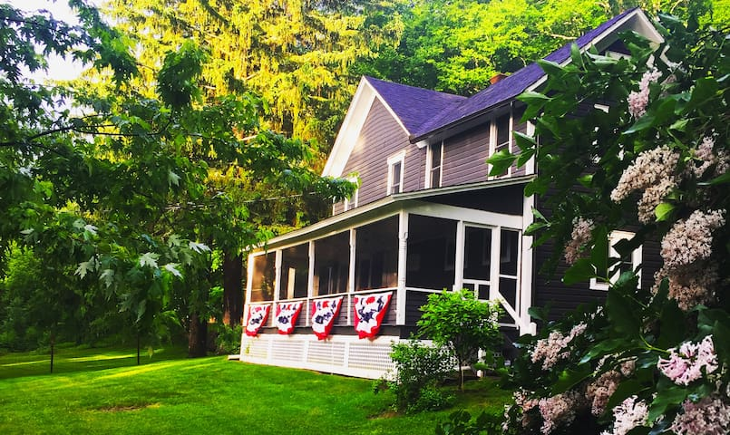 Idyllic, 1860s farmhouse on 16 wooded acres - Milanville - House