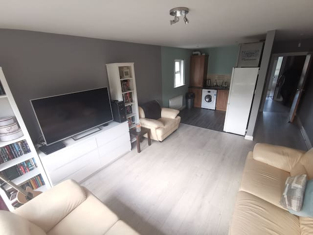 Modern 2 Bed Apt. Sleeps 5. Beside the Belfast Zoo